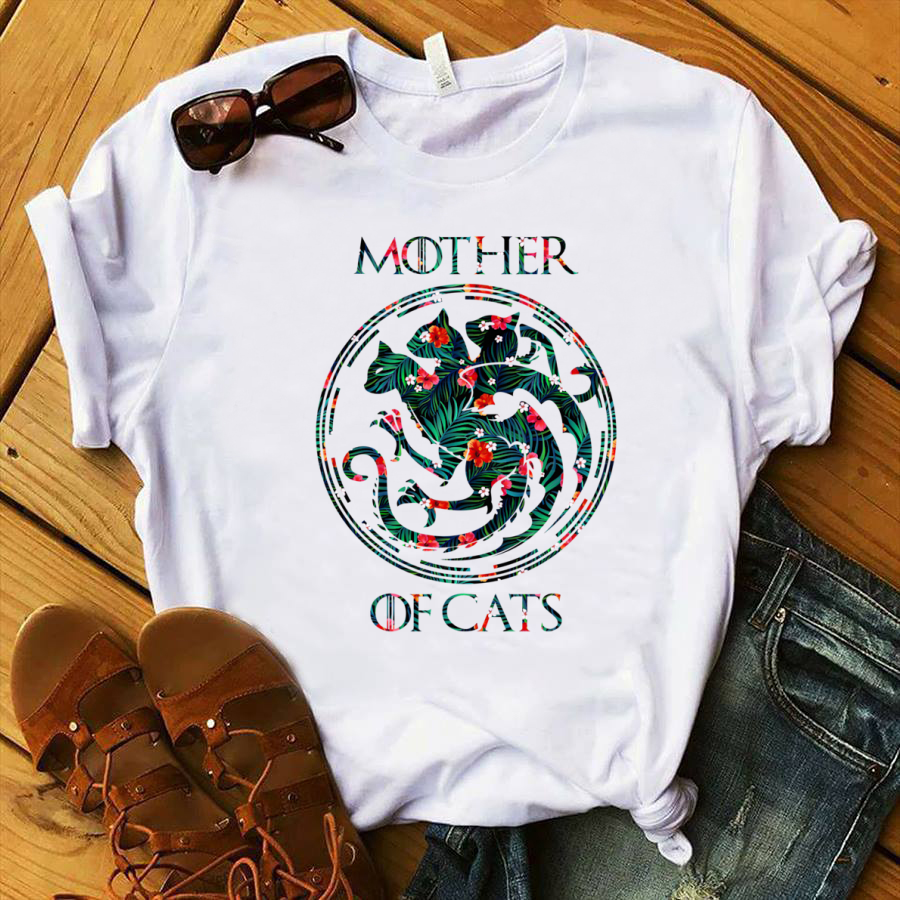 Game of Throne Dracarys mother of cats shirt