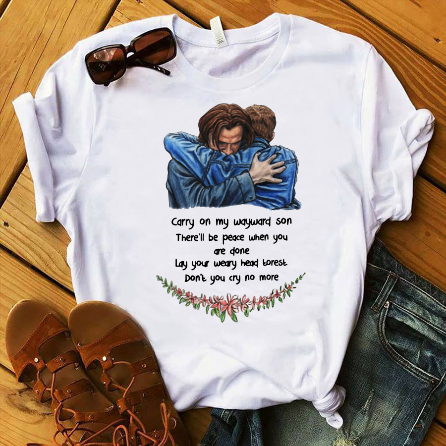 Jared Padalecki Carry On My Wayward Son There'll Be Peace When You Are Done shirt