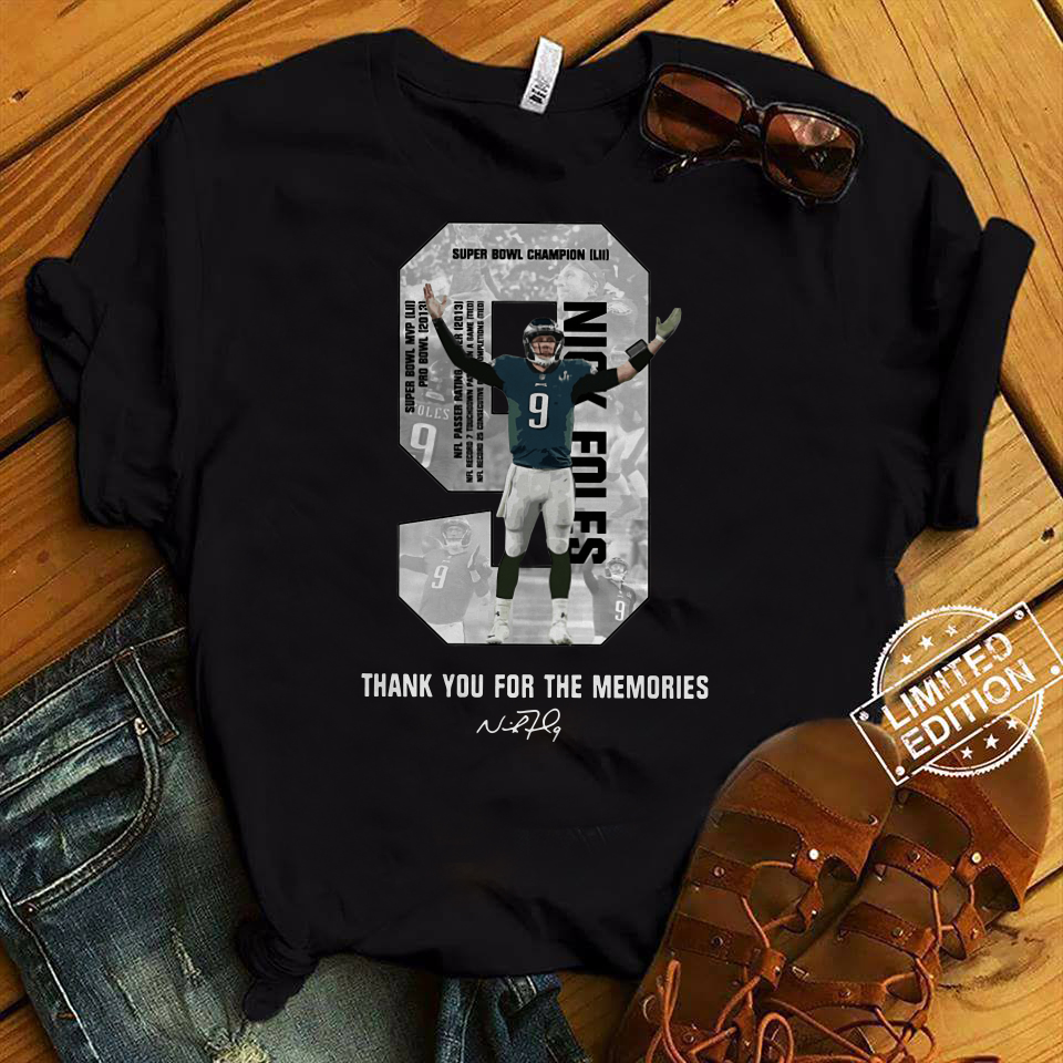Nick Foles 9 Thank You For The Memories Shirt