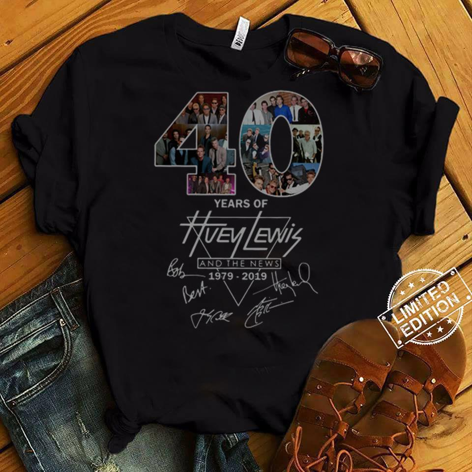 40th Years of Huey Lewis and The News 1979 2019 Shirt