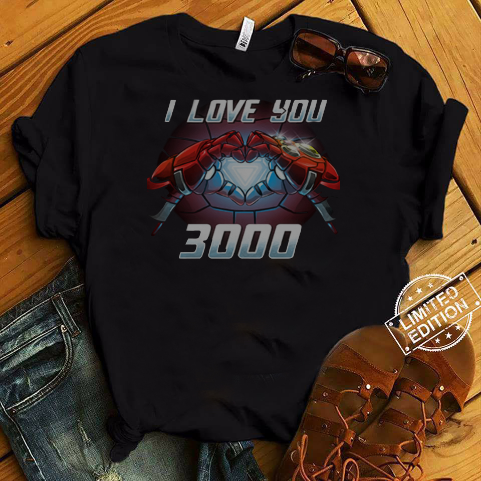 Iron Man I love You 3000 Times shirt