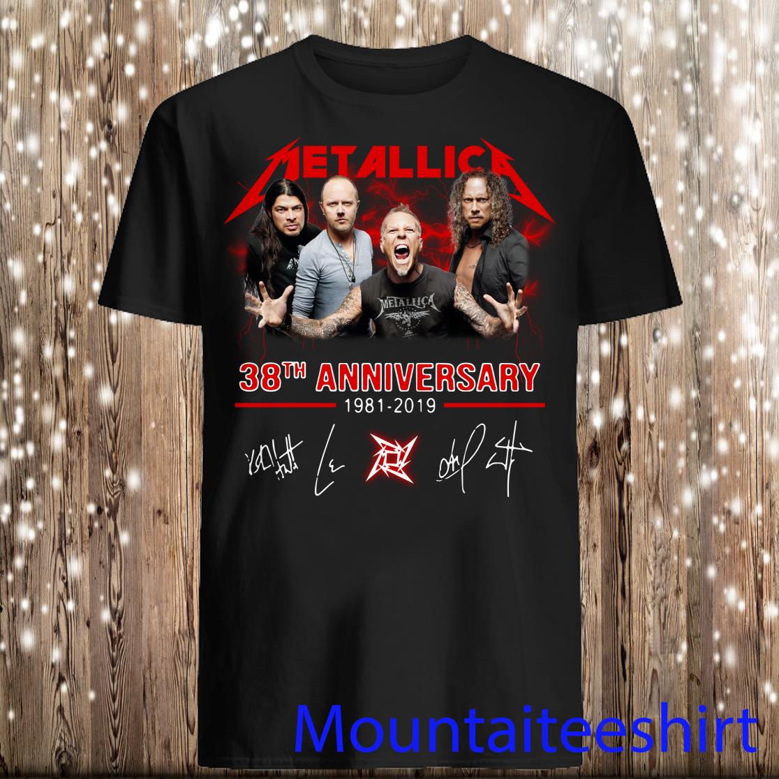 Metallica 38th Anniversary 1981 2019 Signature shirt
