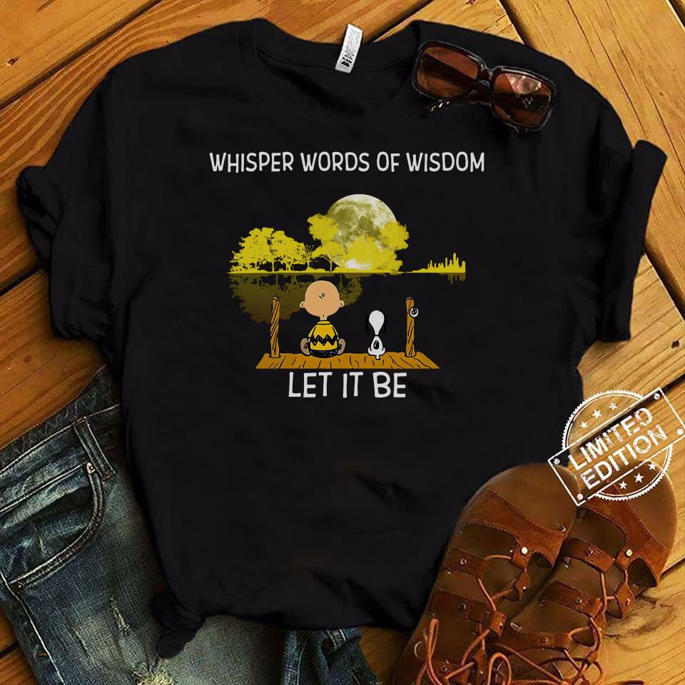 Whisper Words Of Wisdom Let It Be Guitar Lake Shadow Snoopy Shirt