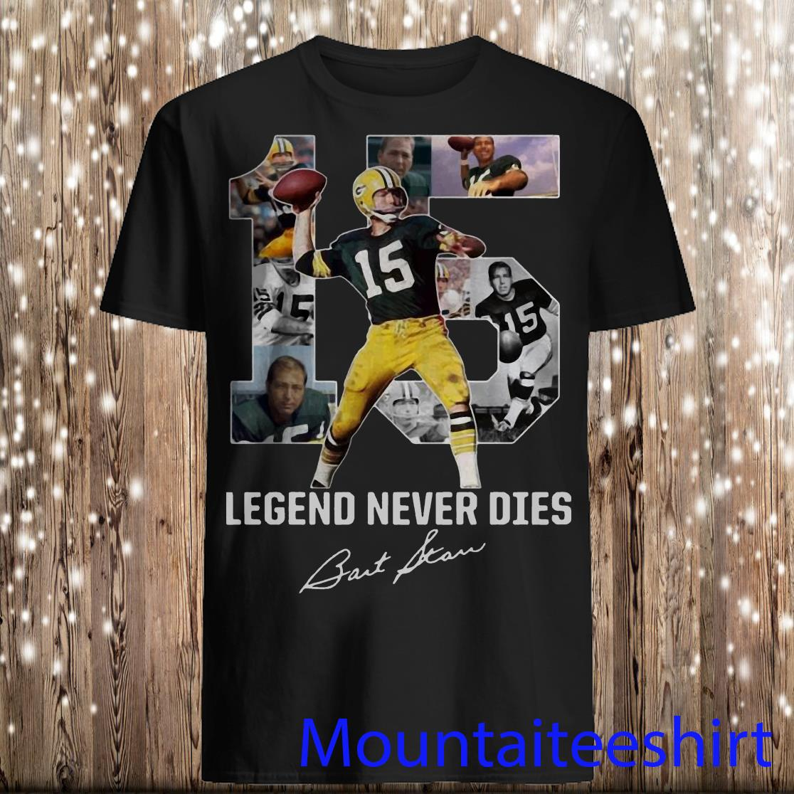 Bart Starr 15 Legend Never Dies 1934 2019 Thank You for The Memories Shirt