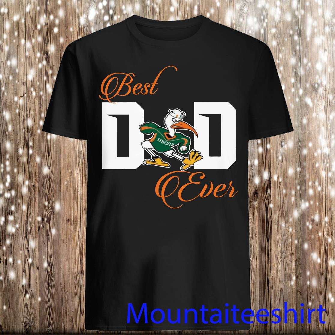 Best Miami Hurricanes Dad Ever Football Shirt