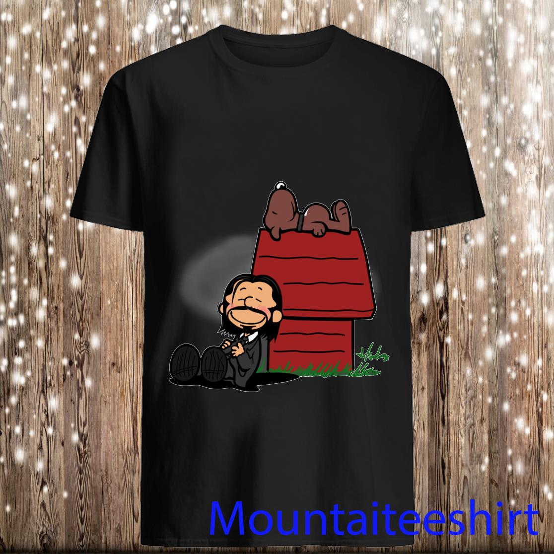 John Wick and Snoopy in the style of Peanuts Shirt