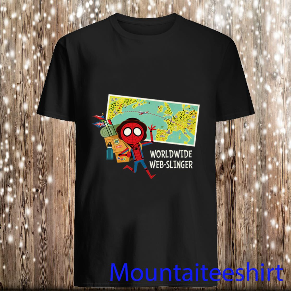 Marvel Spider-Man Far from Home Map Shirt