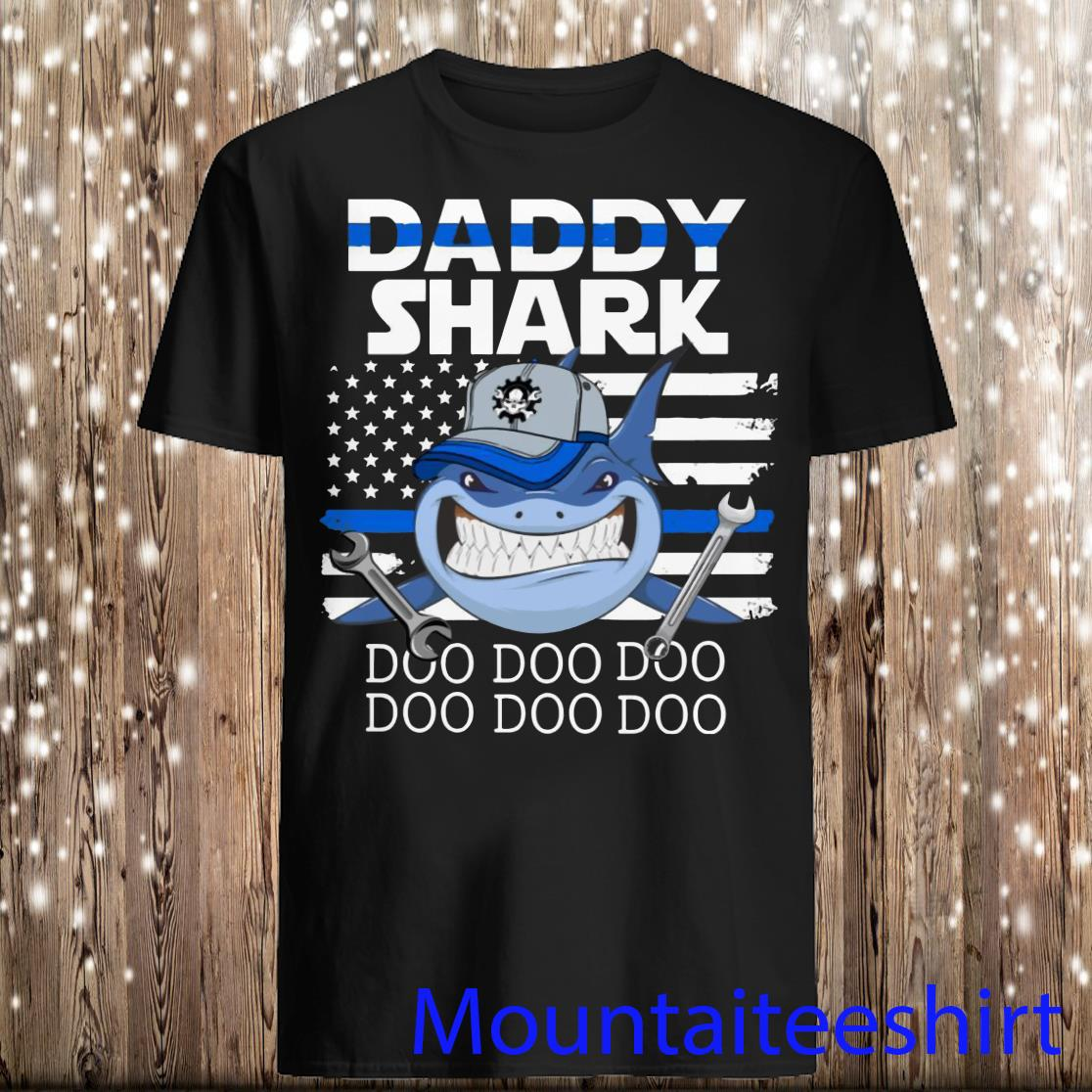 Mechanic Daddy Shark Doo Doo Doo Shirt