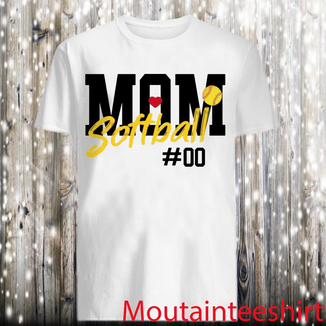 Personalize Number Softball Mom Fan Shirt