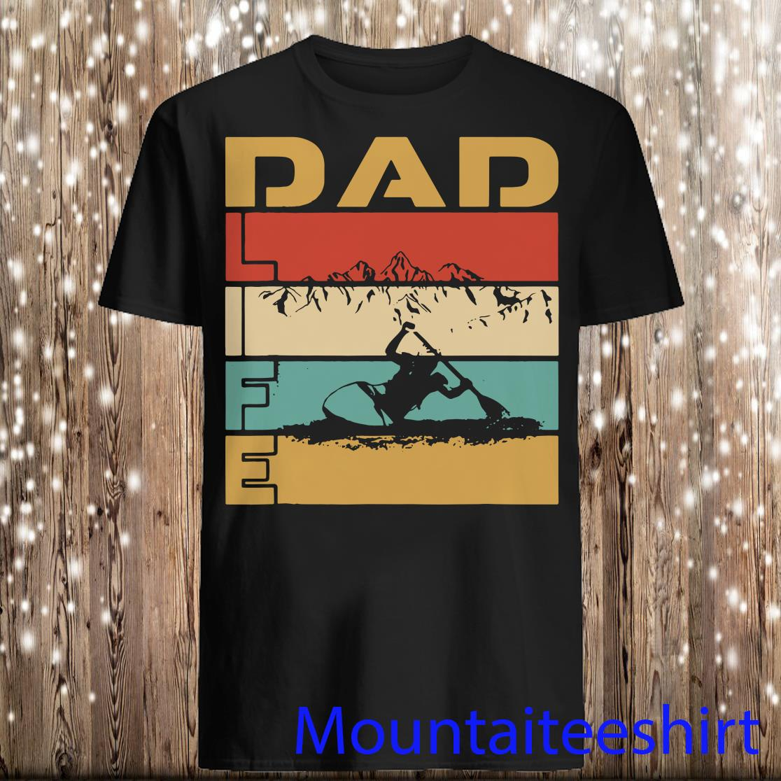 Retro Vintage Best Dad Life Kayaking Adventure Sports Shirt