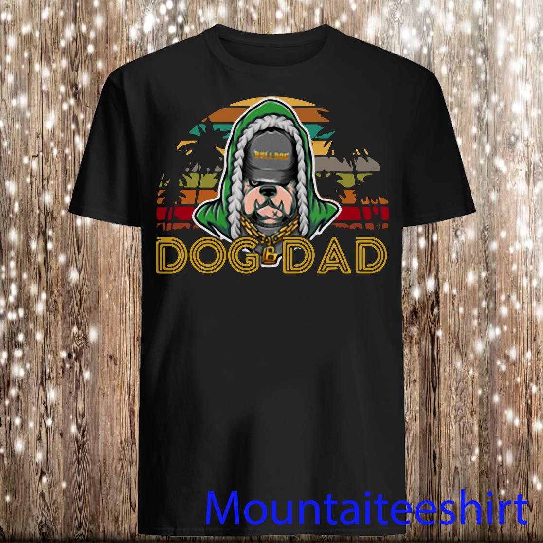 Retro Vintage Best Pug Rap Dad Ever Dog Daddy Father Day Shirt