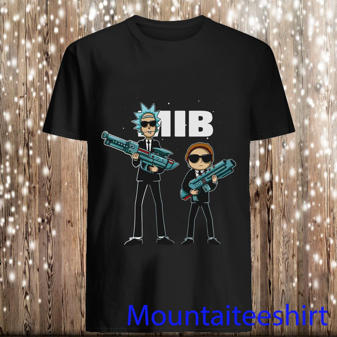 Rick and Morty MIB Movie Parody Shirt