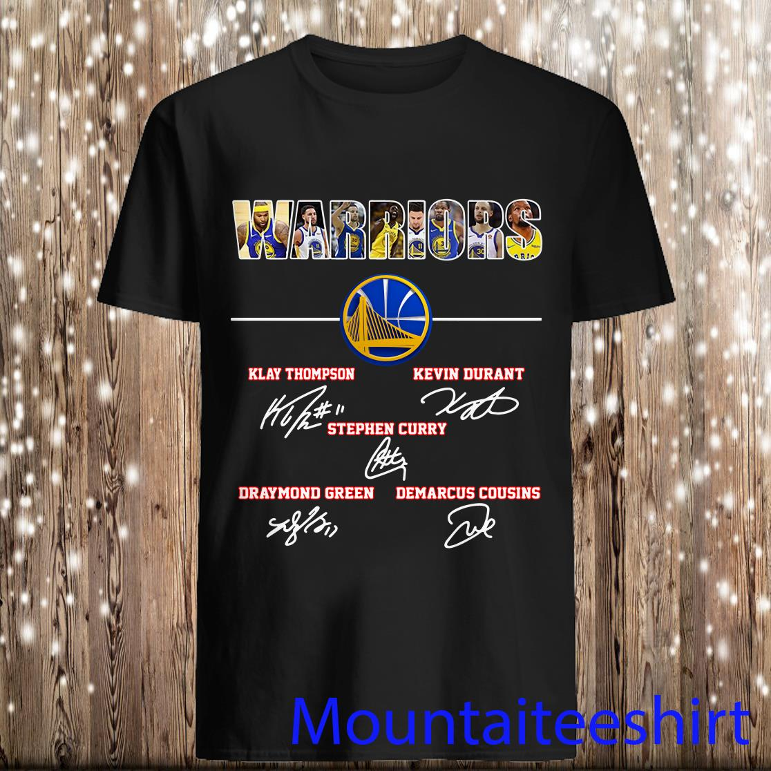 Warriors Klay Thompson Kevin Durant Stephen Curry Draymond Green Signature Shirt