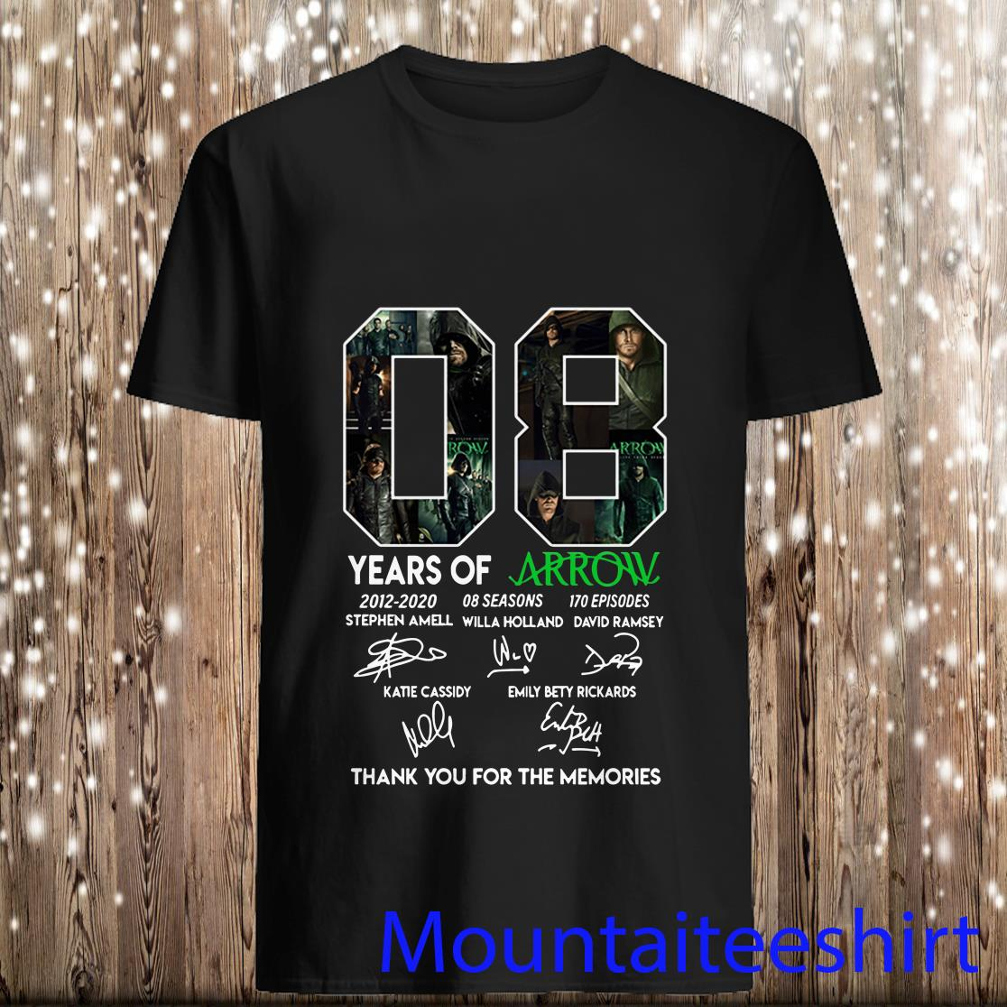 08 Years of Arrow Signatures Thank You for The Memories Shirt