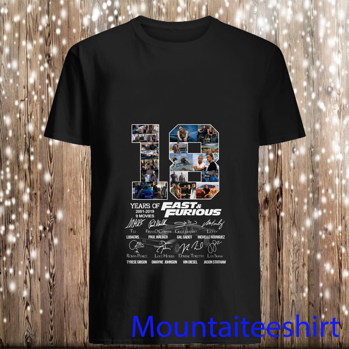 18 Years Of Fast And Furious Thank You For The Memories T Shirt