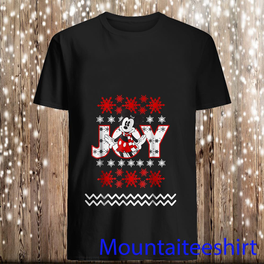 Disney Mickey Mouse Christmas Joy Shirt