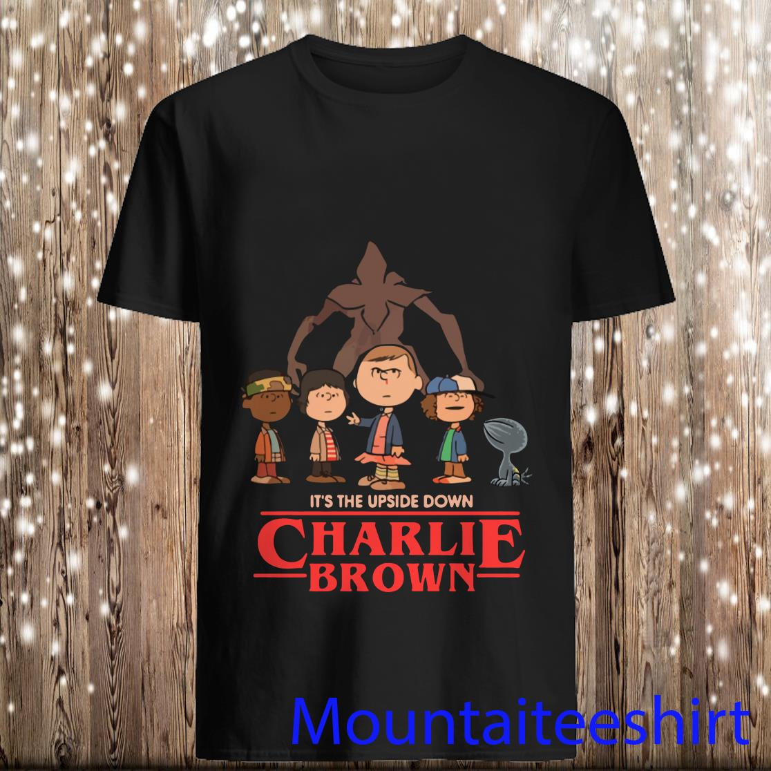 It_s The Upside Down Charlie Brown Stranger Things Shirt