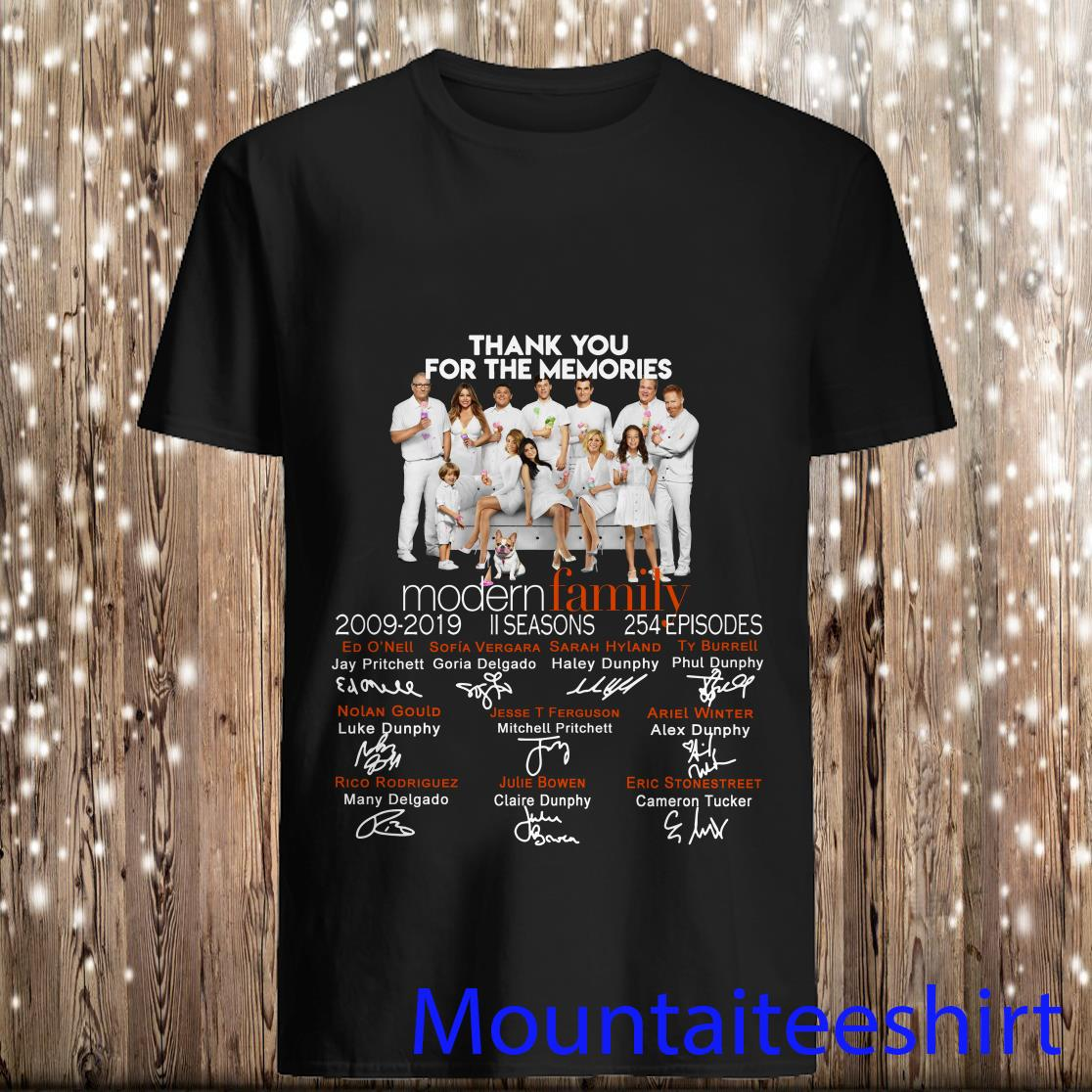 Modern Family Thank You for The Memories Shirt
