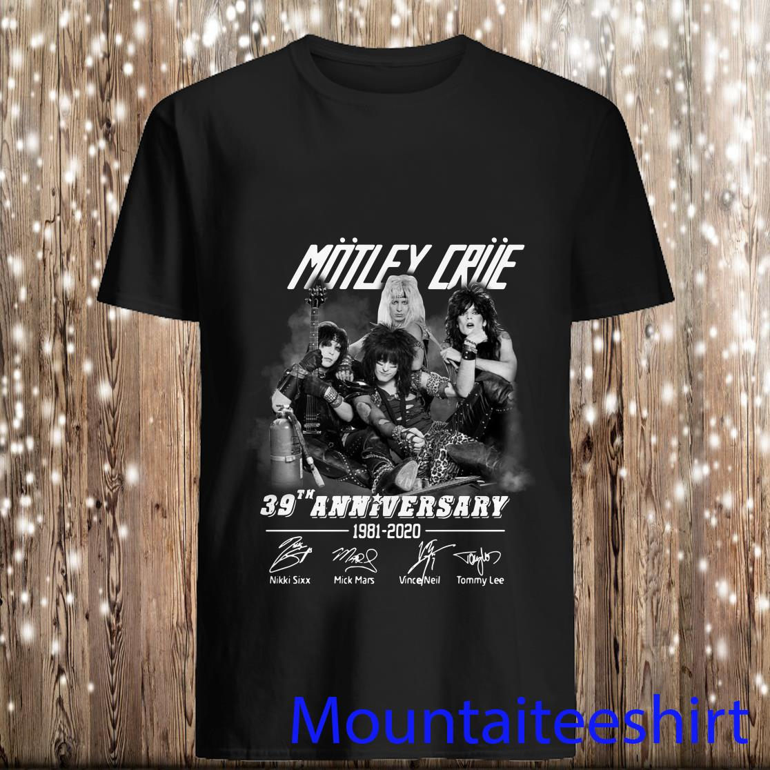 Motley Crue 39th Anniversary 1981-2020 Signatures Shirt