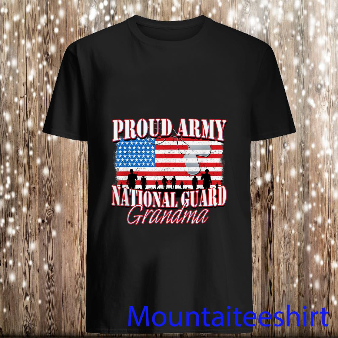 Proud Army National Guard Grandma Shirt