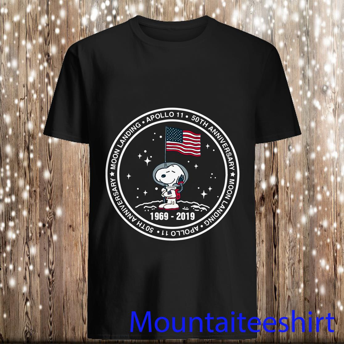 Snoopy Apollo 11 50th Anniversary Moon Landing Shirt