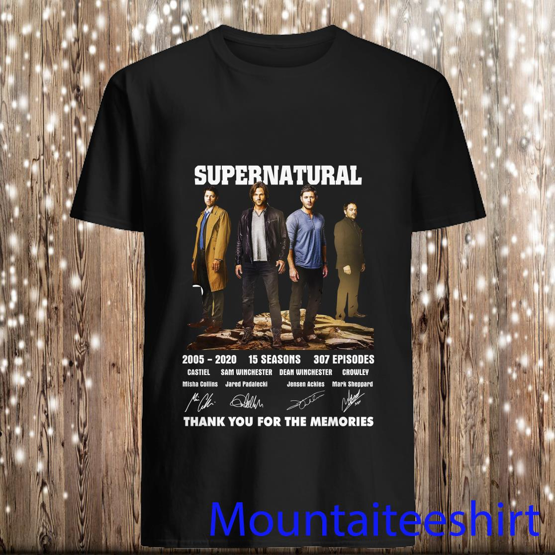 Supernatural 2005 2020 15 Seasons 307 Episodes Thank You For The Memories Shirt