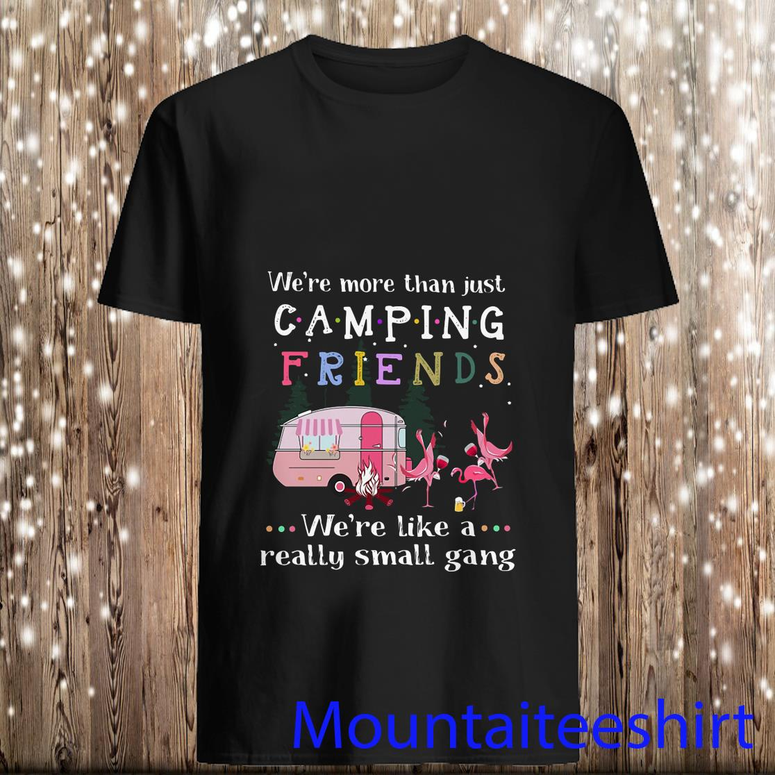 We're More Than Just Camping Friends Flamingo We're Like A Really Small Gang Shirt