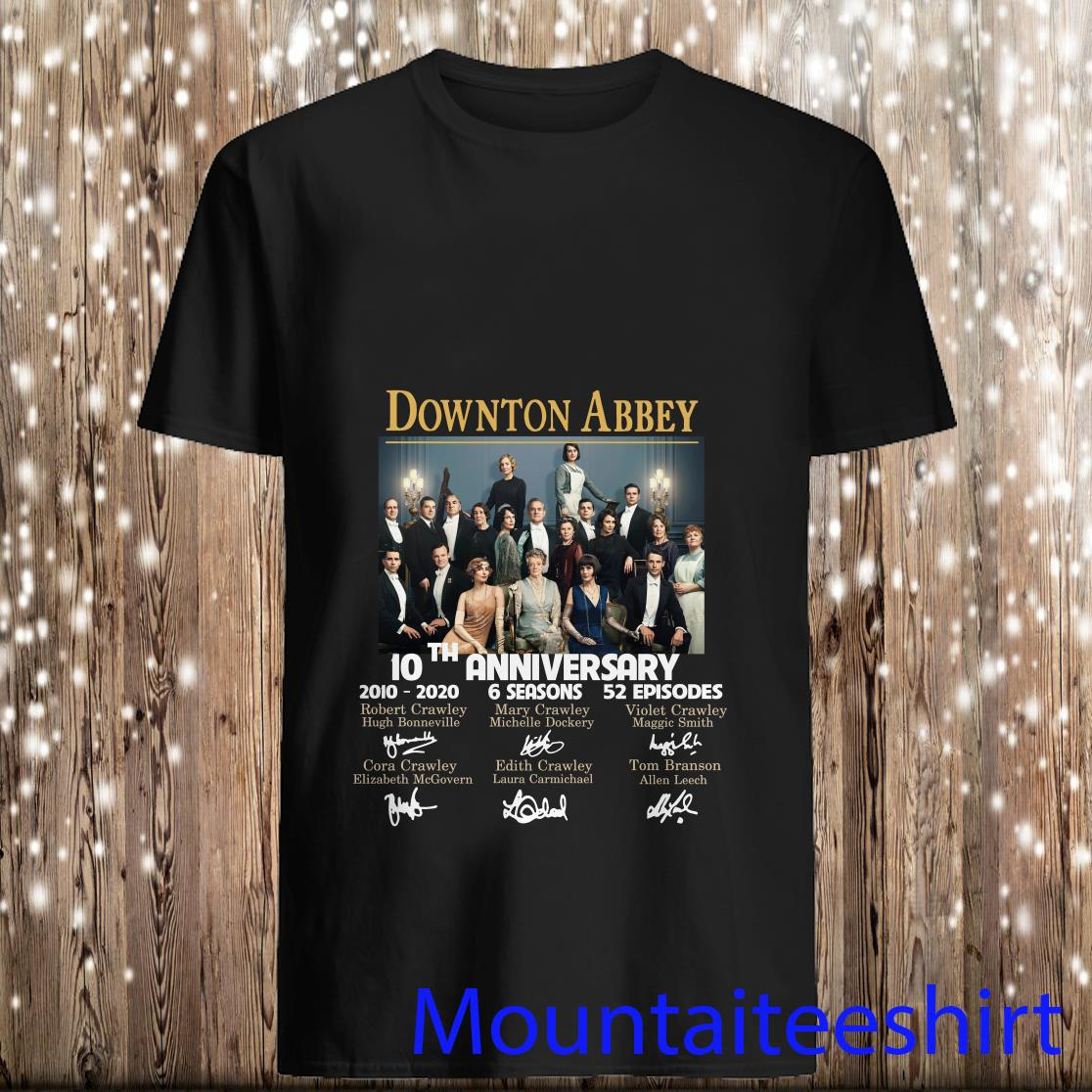 10 years of Downton Abbey Signatures Shirt