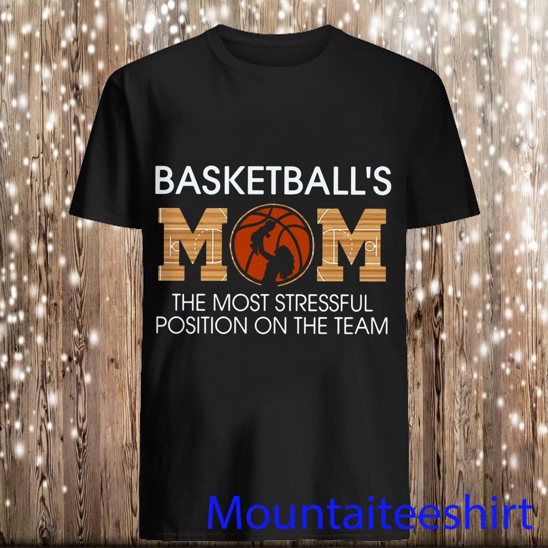Basketball's Mom The Most Stressful Position On The Team Shirt