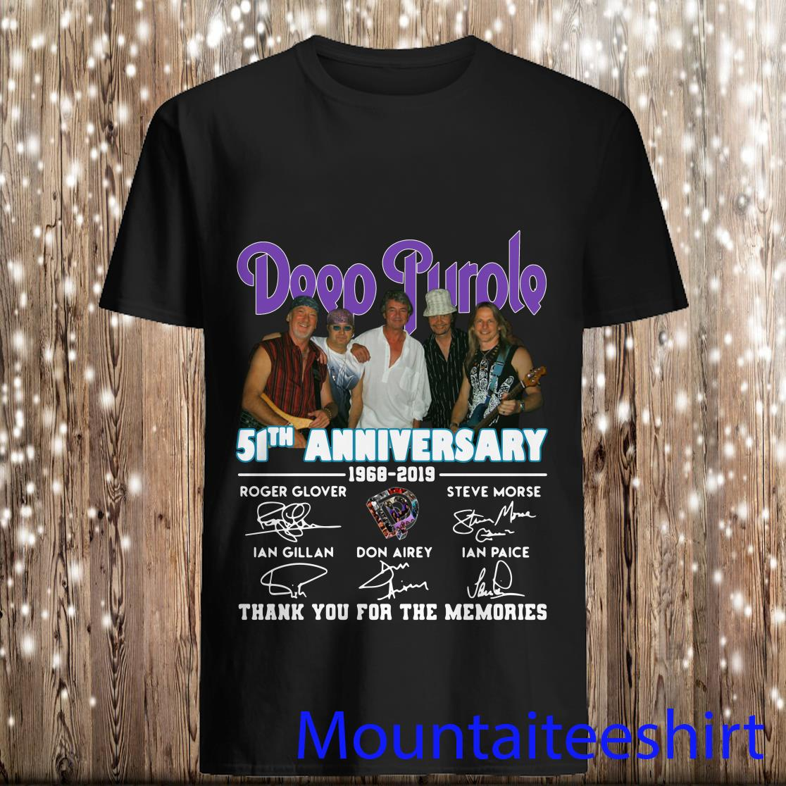Deep Purple 51th Anniversary Thank You For The Memories Signature Shirt