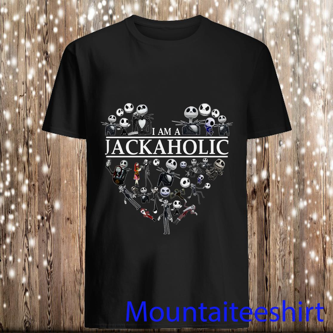 I'm Jackaholic Skeleton Skull Heart Halloween Shirt