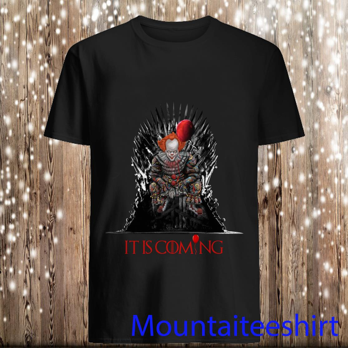 It Horror Sit Iron Throne It Is Coming Halloween Shirt