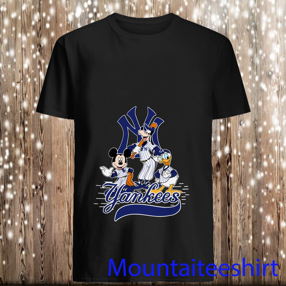 Mickey Mouse Pluto Donald Duck New York Yankees Shirt