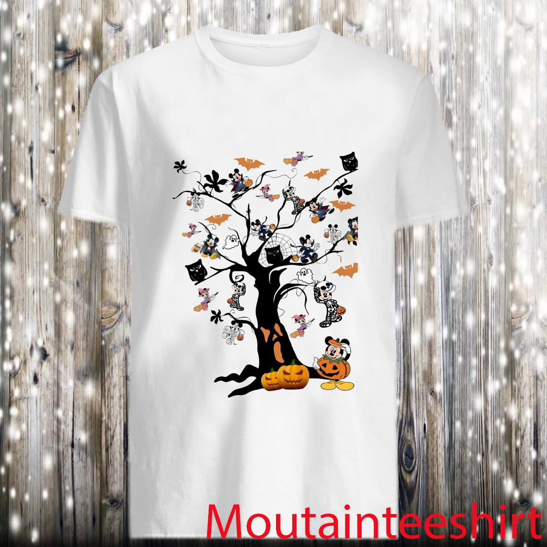 Spooky Disney Halloween Tree Mickey Pumpkin Ghosts Witches shirt