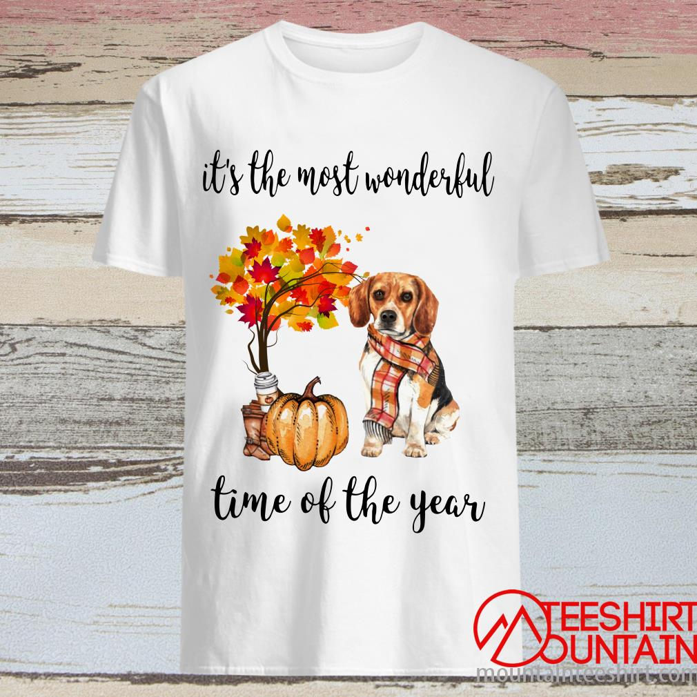 Beagle Autumn It's The Most Wonderful Time Of The Year Shirt