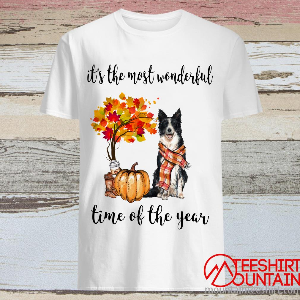Border Collie Autumn It's The Most Wonderful Time Of The Year Shirt