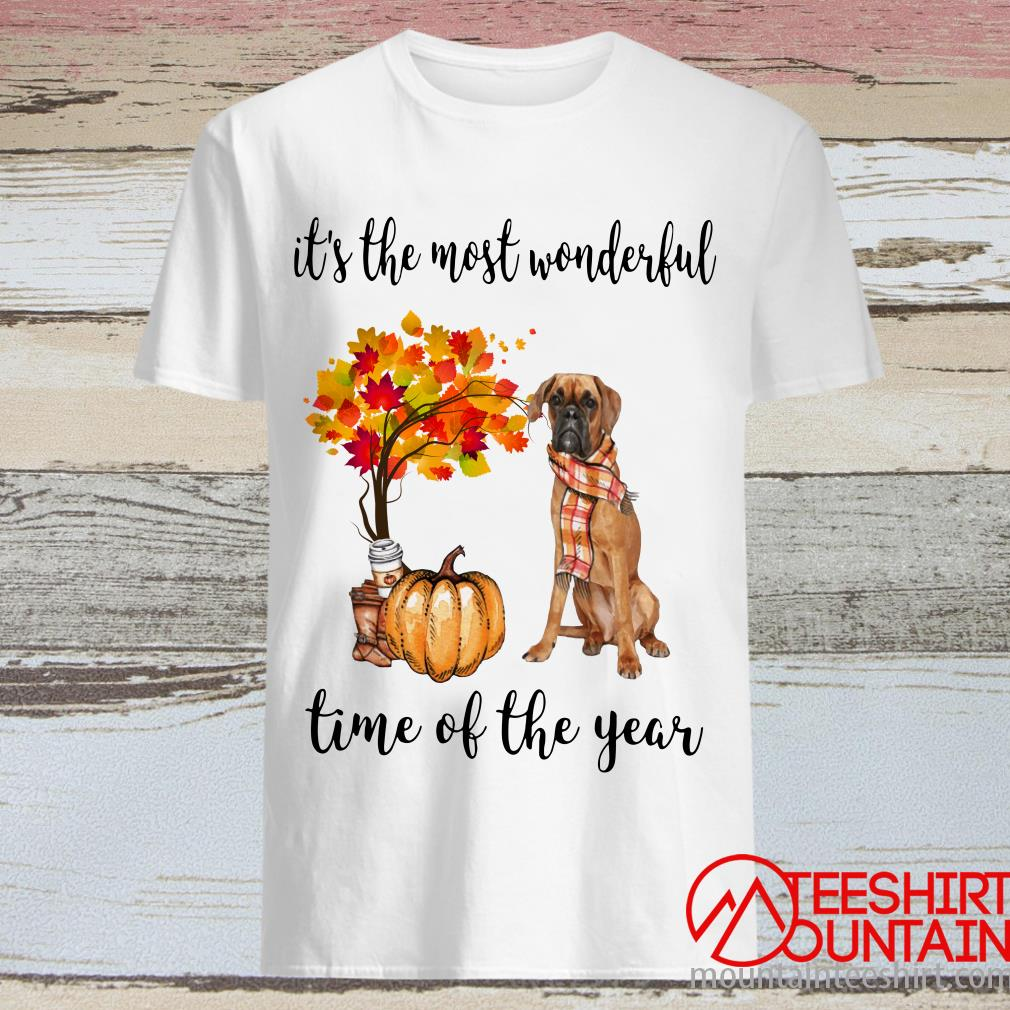Boxer Classic Autumn It's The Most Wonderful Time Of The Year Shirt