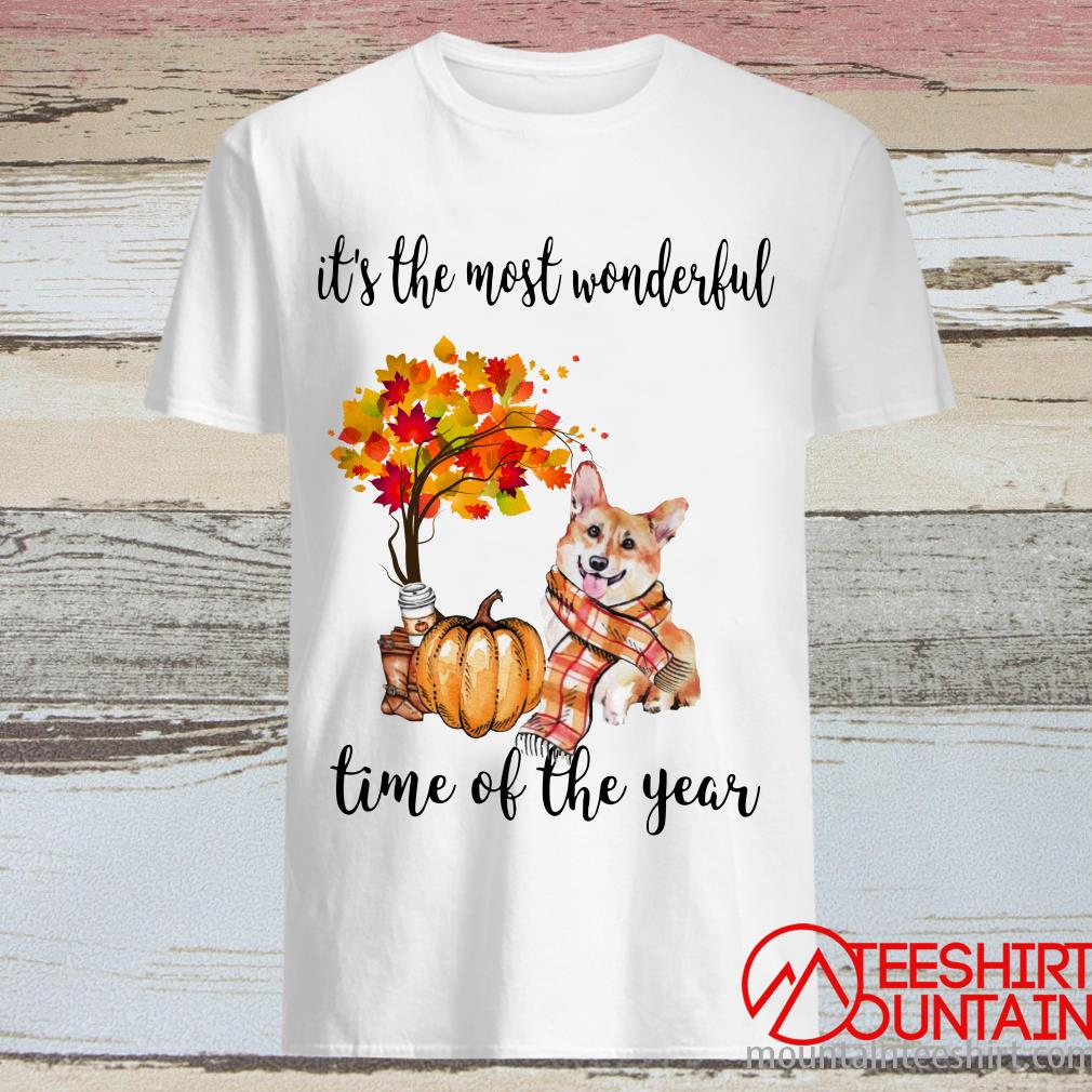 Corgi Autumn It's The Most Wonderful Time Of The Year Shirt