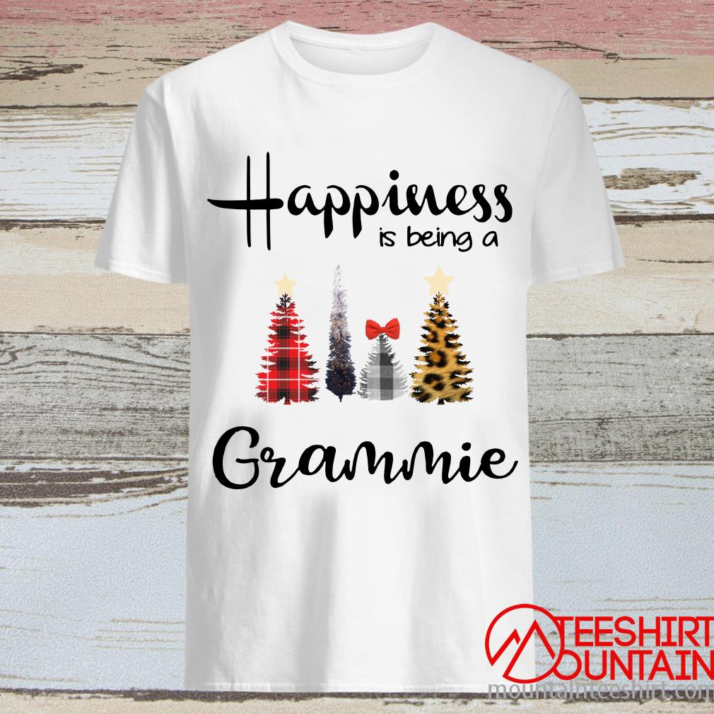 Tree Christmas Happiness Is Being A Grammie Shirt