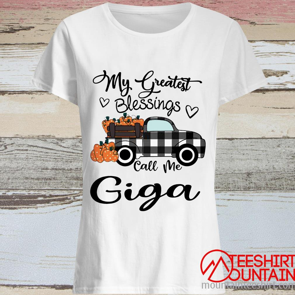 Car My Greatest Blessings Call Me Giga Halloween Women's T-Shirt