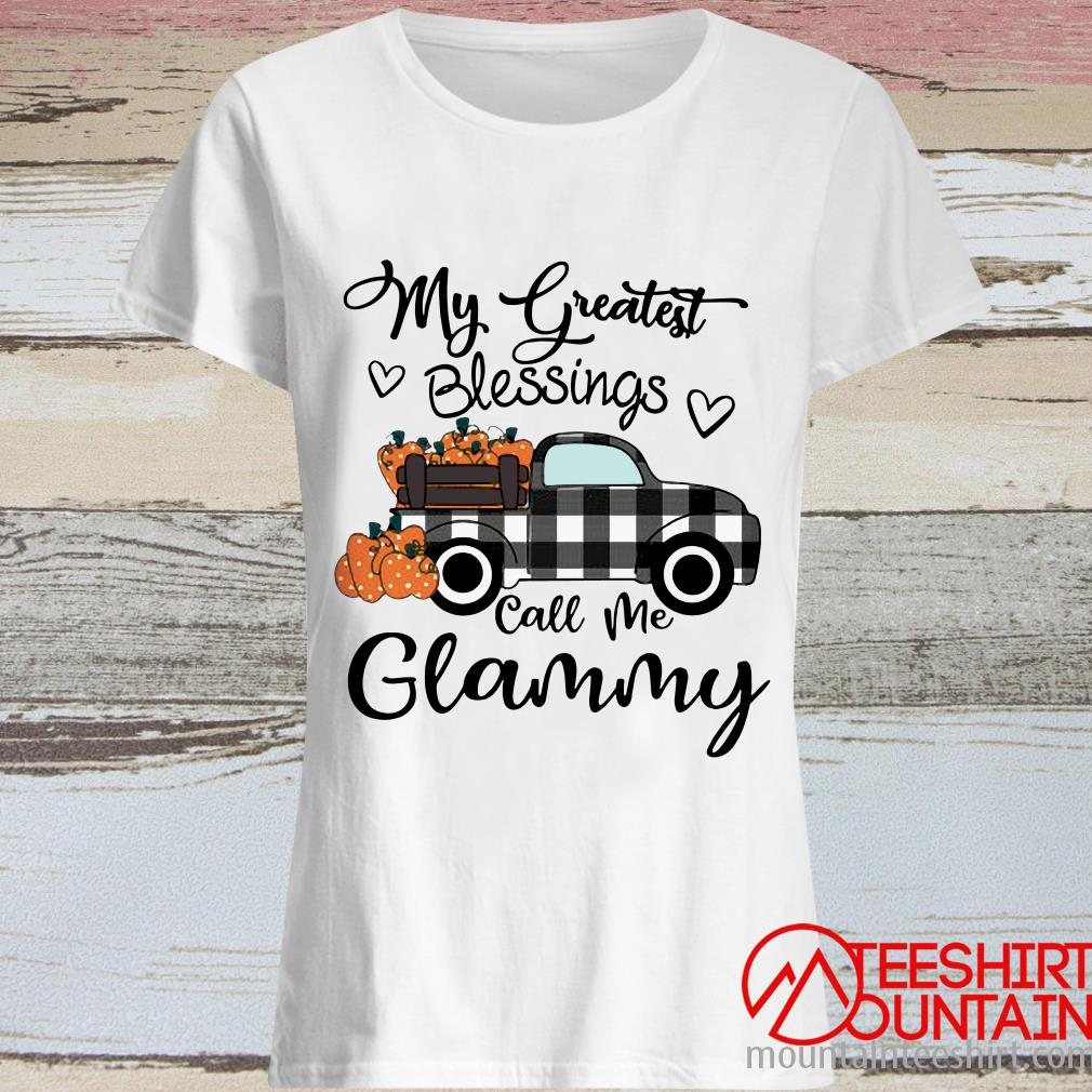 Car My Greatest Blessings Call Me Glammy Halloween Women's T-Shirt