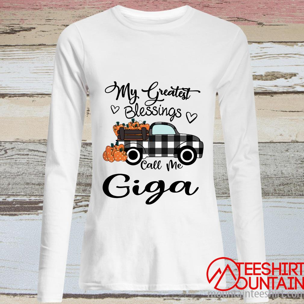 Car My Greatest Blessings Call Me Giga Halloween Long Sleeved