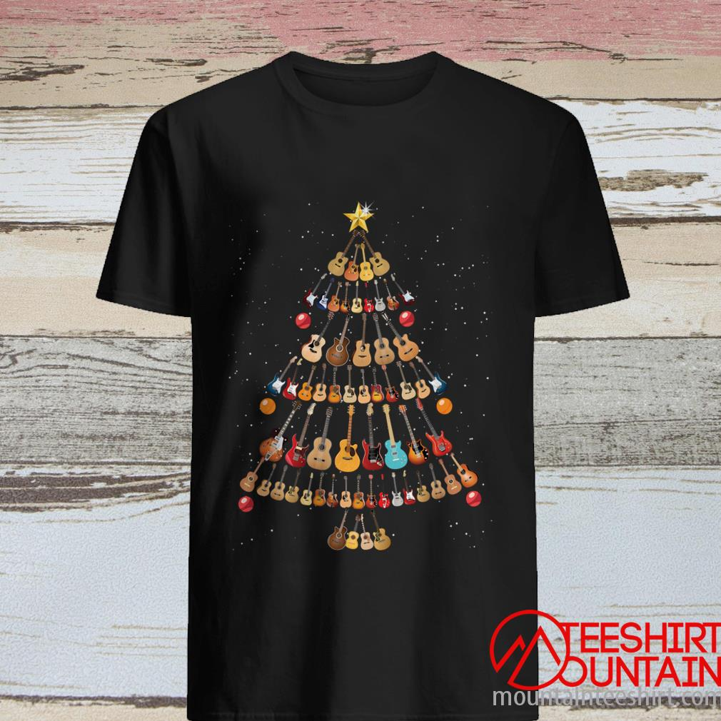 Guitar Noel Tree T-Shirt