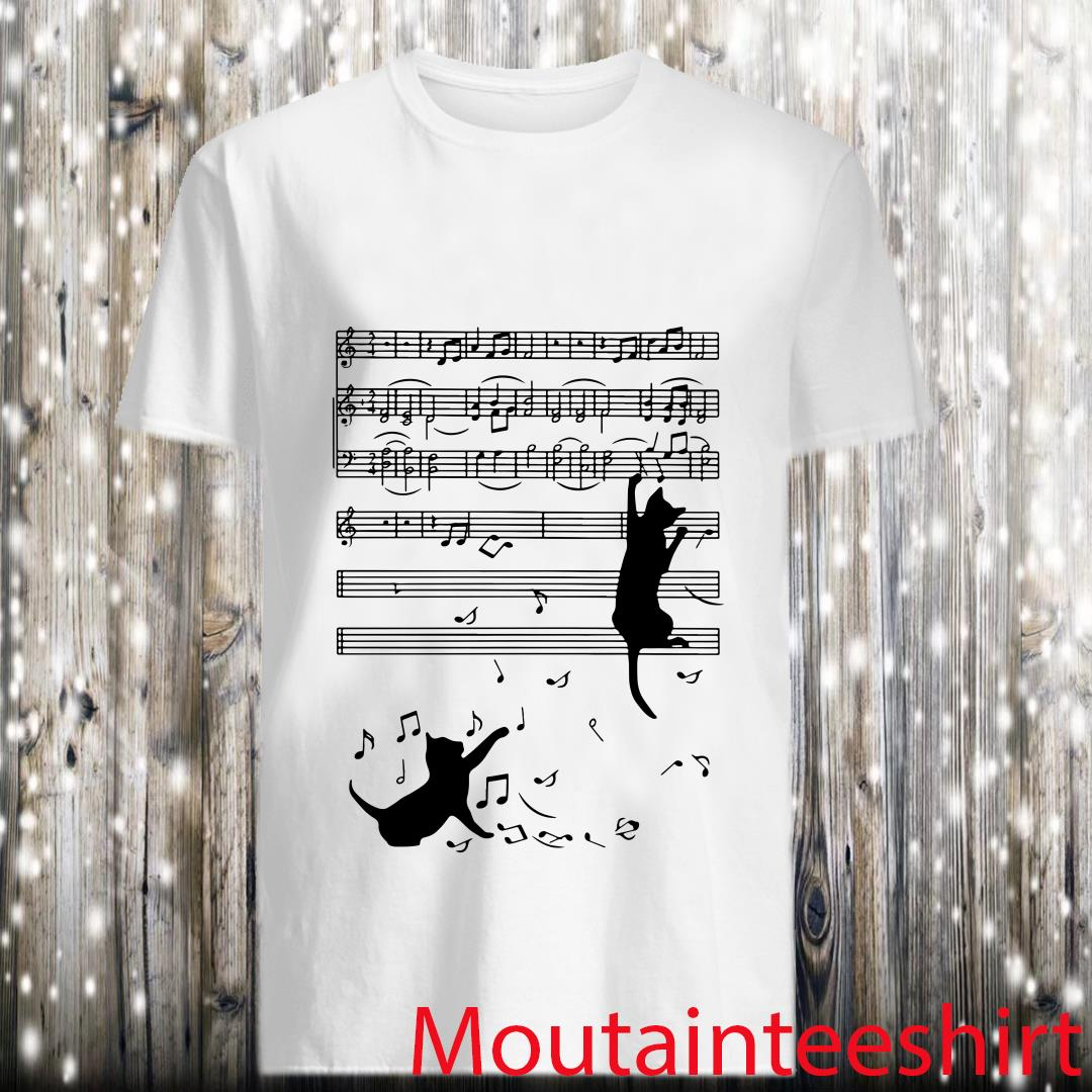 Black Cats Plays With Music Shirt