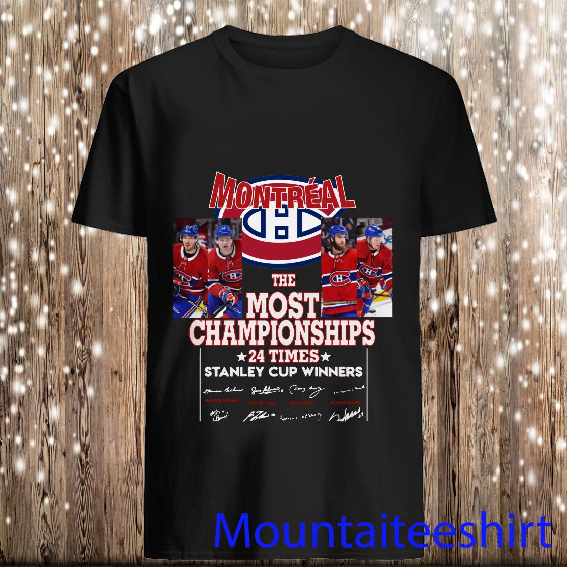 Montreal the most championships 24 times stanley cup winners signatures shirtMontreal the most championships 24 times stanley cup winners signatures shirt