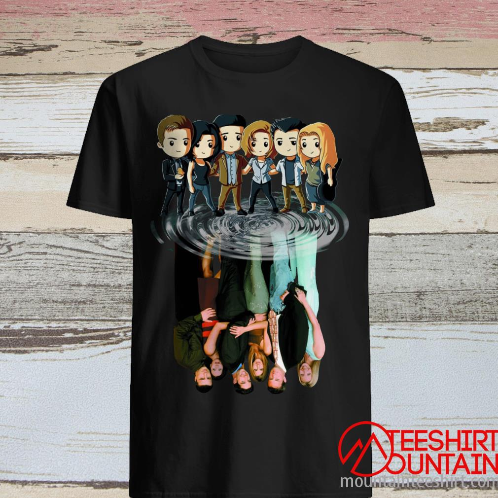 Friends Tv Characters Chibi Water Reflection ShirtFriends Tv Characters Chibi Water Reflection Shirt