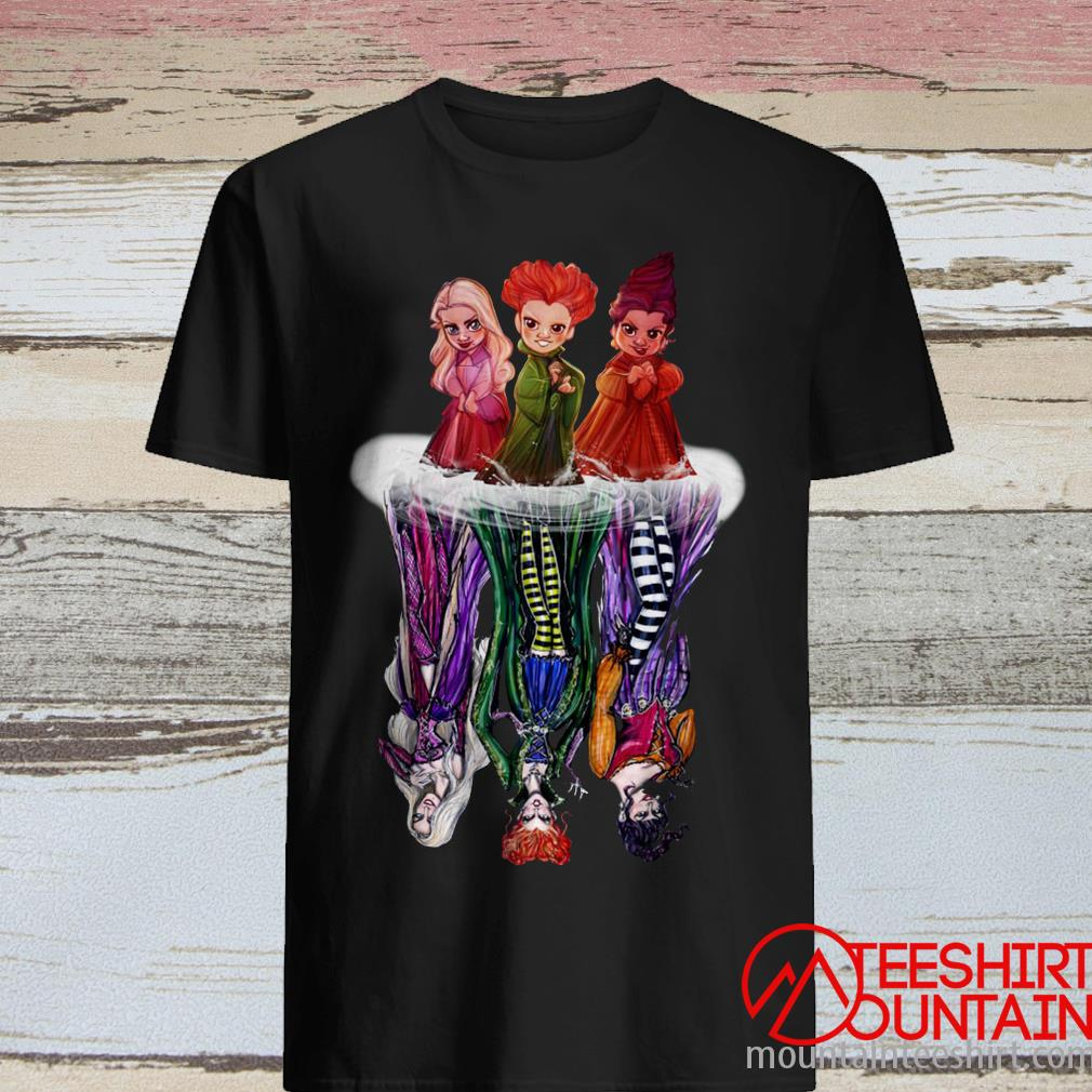 Hocus Pocus Characters Chibi Water Reflection Shirt