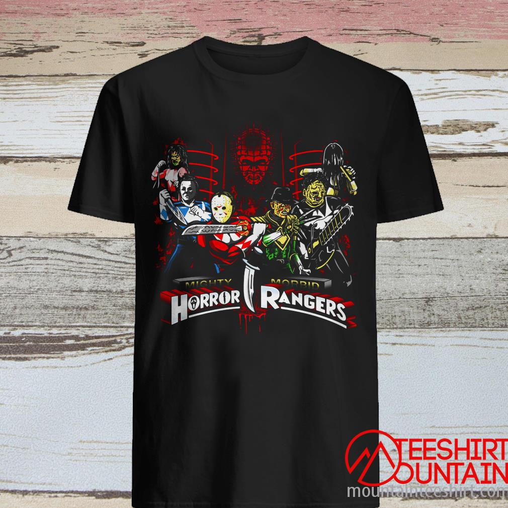 Horror Movie Characters Mighty Morbid Horror Rangers Shirt