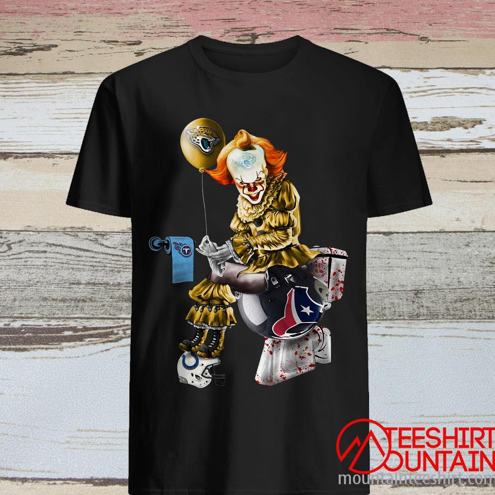 Pennywise Jacksonville Jaguars Tennessee Titans Indianapolis Colts Houston Texans Toilet Shirt
