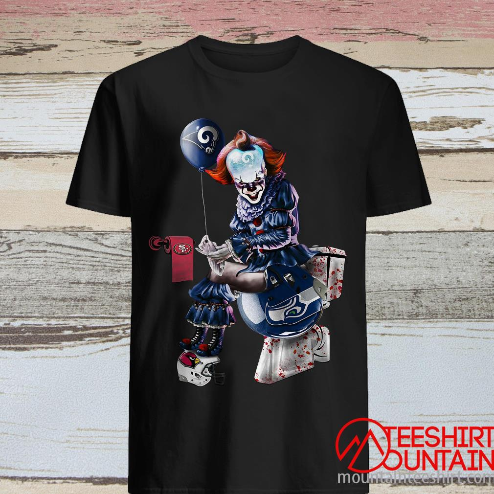 Pennywise Los Angeles Rams San Francisco 49ers Arizona Cardinals Seattle Seahawks Toilet Shirt